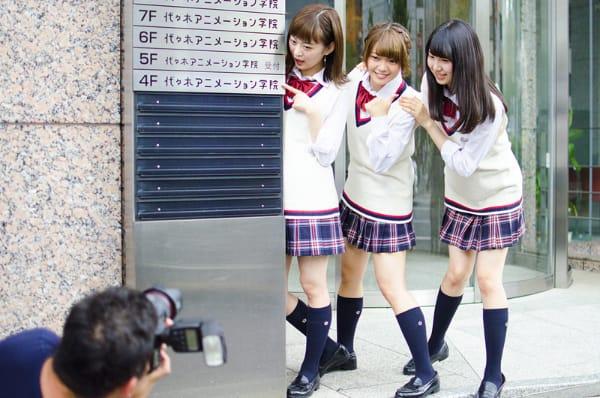 SKE48・都築里佳、矢方美紀、菅原茉椰の3人が代アニで実習